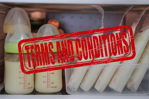 terms and conditions for breast milk production